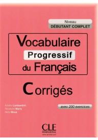 Vocabulaire progressif debutant complet - klucz