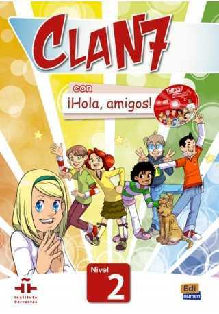 Clan 7 con Hola amigos 2 podręcznik + CD MultiROM
