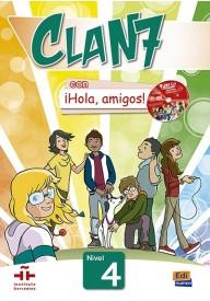 Clan 7 con Hola amigos 4 podręcznik + CD MultiROM