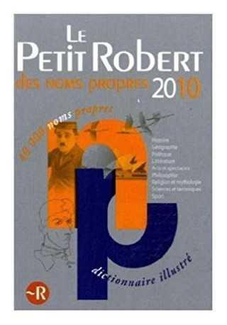 Petit Robert de noms propres 2010