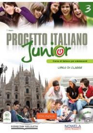 Progetto italiano Junior 3 - podręcznik ucznia + słownik tematyczny - Klasa 3 Gimnazjum (Podręcznik wieloletni)