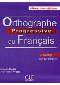 Orthographe progressive du francais 2ed intermediaire książk