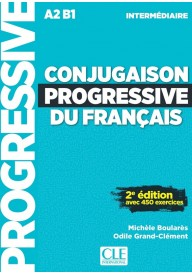Conjugaison progressive du francais 2ed intermediate książka + CD audio A2-B1