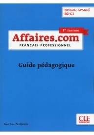 Affaires.com 3 edycja przewodnik metodyczny niveau avance B2-C1