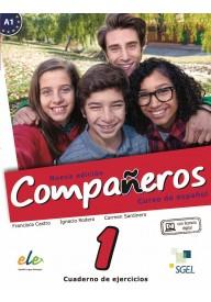 Companeros 1 ćwiczenia + licencia digital - nueva edicion