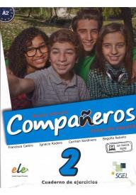Companeros 2 ćwiczenia + licencia digital - nueva edicion