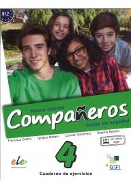 Companeros 4 ćwiczenia + licencia digital - nueva edicion