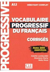 Vocabulaire progressif du Francais niveau debutant complet A1.1 klucz