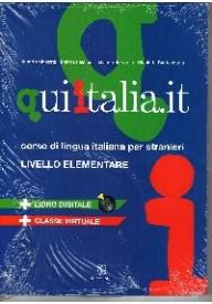 Qui italia.it livello elementare A1 - A2 podręcznik + MP3