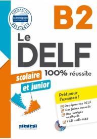 DELF 100% reussite B2 scolaire et junior książka + płyta CD MP3