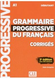 Grammaire progressive du Francais niveau debutant A1 klucz 3ed