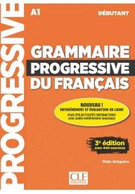 Grammaire progressive du Francais niveau debutant A1 + CD audio 3ed