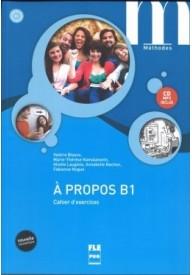 A propos B1 ćwiczenia + CD MP3 edycja 2016