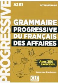 Grammaire progressive du francais des affaires  intermediaire książka + CD A2/B1