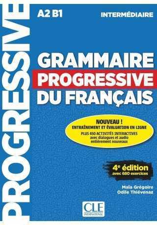 Grammaire progressive niveau intermediaire A2 B1 4ed książka + CD audio
