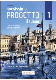 Nuovissimo Progetto italiano 1 podręcznik + DVD A1-A2