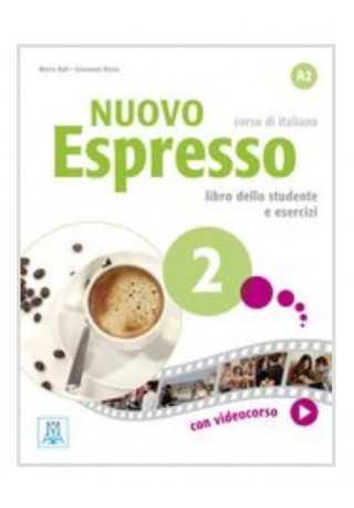 Nuovo Espresso 2 podręcznik + ćwiczenia + płyta DVD