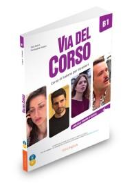 Via del Corso B1 podręcznik + 2 CD audio + DVD video