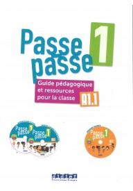 Passe-Passe 1 przewodnik metodyczny A1.1 + 2 CD + DVD
