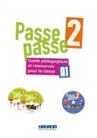 Passe-Passe 2 przewodnik metodyczny A1.2 + 2 CD + DVD
