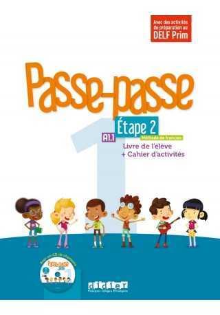 Passe-Passe 1 etape 2 podręcznik + ćwiczenia + CD A1.1