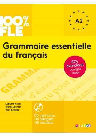 100% FLE Grammaire essentielle du francais A2 książka + CD MP3