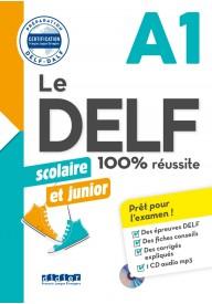 DELF 100% reussite A1 scolaire et junior książka + płyta CD MP3