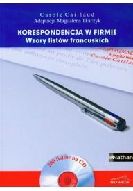 Korespondencja w firmie Wzory listów francuskich + CD