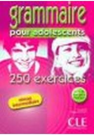 Grammaire pour adolescents 250 exercices intermediare livre