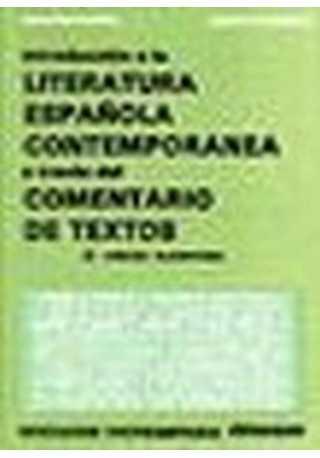 Introduccion a la literatura espanol contemporanea