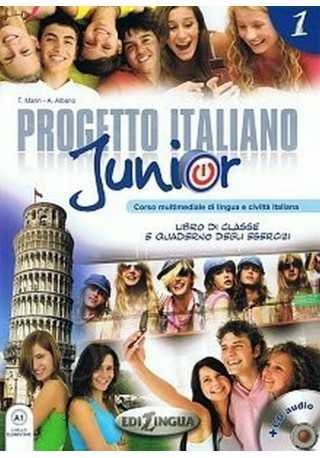 Progetto italiano junior 1 podręcznik+ćwiczenia+DVD+CD+słown