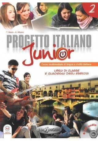 Progetto Italiano junior 2 podręcznik + ćwiczenia + DVD