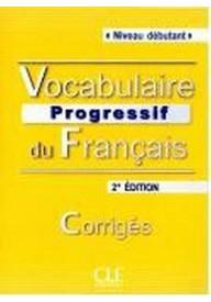 Vocabulaire progressif du Francais niveau debutant klucz