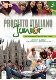 Progetto italiano junior 3 podręcznik + ćwiczenia + DVD