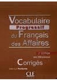 Vocabulaire progressif des Affaires klucz 2 edycja