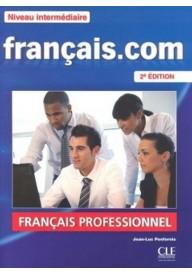 Francais.com Niveau intermediaire podręcznik+ DVD+ guide com
