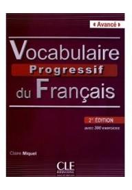 Vocabulaire progressif avance książka + CD audio 2 edycja