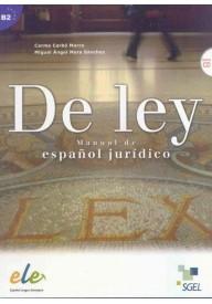 De ley Manuale de espanol juridico książka + CD audio