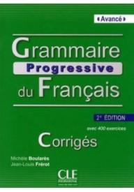 Grammaire progressive du Francais avance corriges 2 edycja