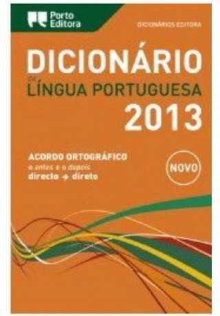 Dicionario da Lingua Portuguesa 2013 verso com caixa