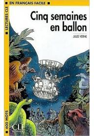 Cinq semaines en ballon książka + płyta MP3