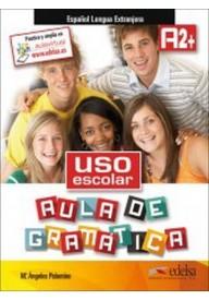 Uso escolar A2+ aula de gramatica książka