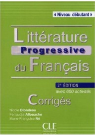 Litterature progressive du francais 2ed debutant klucz